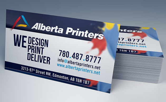Business cards printing alberta printers edmonton ab business cards printing with alberta printers reheart Image collections