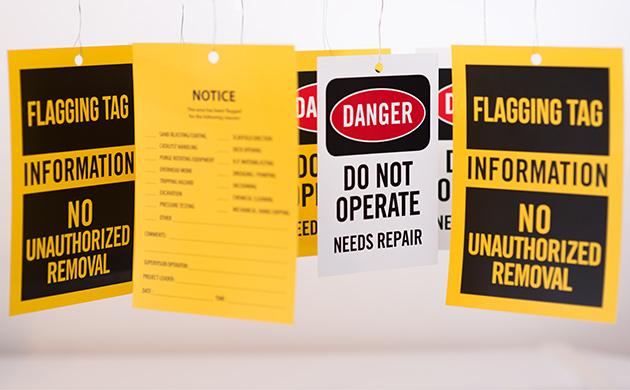 flagging tags printing - different kind of tags