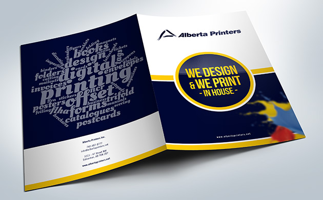 Presentation folders printed at Alberta Printers